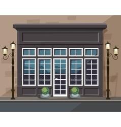 Europian Shop Museum Restaurant Store with Windows vector