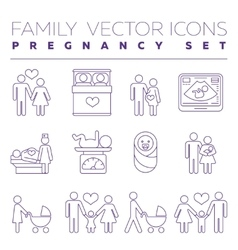 Family health care and pregnancy medicine thin vector
