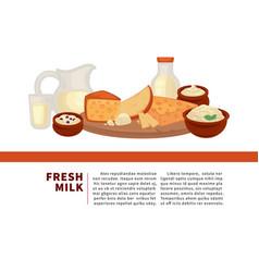 fresh milk internet promotional banner with sample vector image
