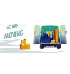 furniture delivery moving house service poster vector image