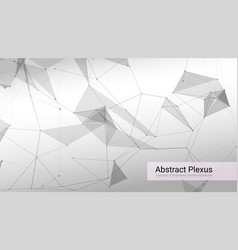 futuristic plexus shapes abstract 3d vector image
