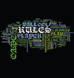golf brief overview text background word cloud vector image