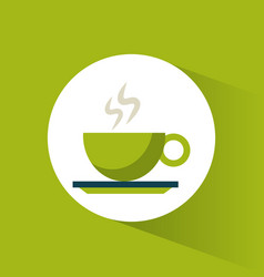 Green coffee cup hot vector