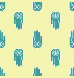 green symbol jainism or jain dharma icon vector image