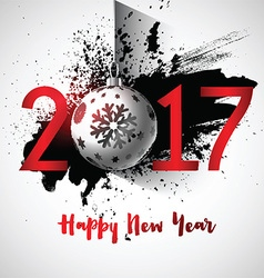 Grunge happy new year background 1510 vector