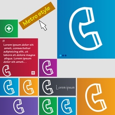 handset icon sign buttons Modern interface website vector image