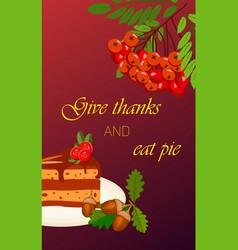Happy thanksgiving card celebration banner design vector