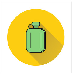 hip flask simple icon on circle background vector image