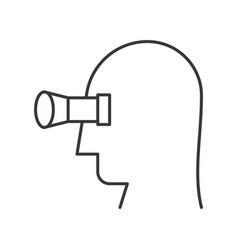Human head and binocular vision concept icon vector
