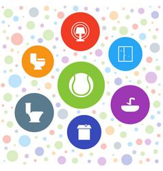 Indoor icons vector