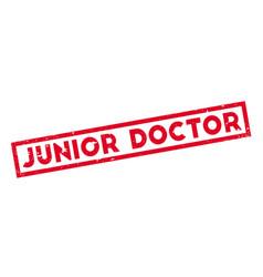 junior doctor rubber stamp vector image