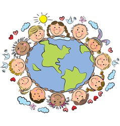 kids earth vector image