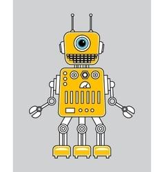 Llustration of a vintage robot vector