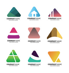 logo triangle template vector image