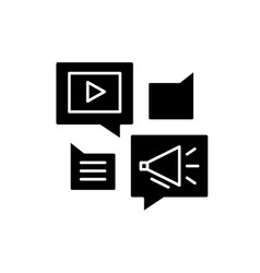 media online library black icon sign on vector image