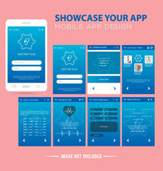 Medical mobile app vector