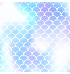 mermaid scales background with holographic vector image