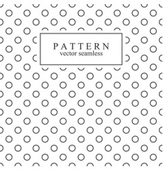 Minimalist geometric seamless pattern with circles vector