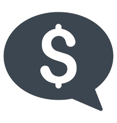 Money Message Flat Icon vector image