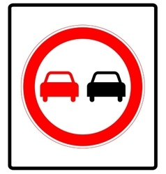 No overtaking road traffic sign icon in flat style vector