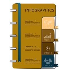Notebook Infographics Design Template vector image