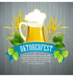 Oktoberfest Background with Beer Poster template vector