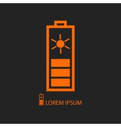 Orange solar battery vector image