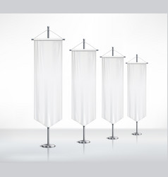 Pedestals with pennants on smooth surface vector