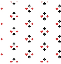 Playing card suits seamless pattern vector image