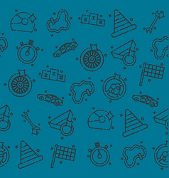 Racing set pattern vector