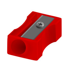 Realistic pencil sharpener vector