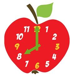 Red Apple Clock vector
