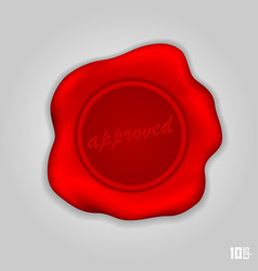 Red wax seal vector