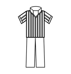 referee tshirt wear vector image
