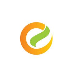 Round letter e shape logo vector