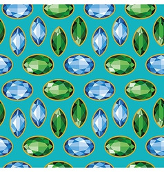 Sapphires Emeralds Seamless Texture vector
