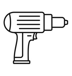 Screwdriver icon outline style vector
