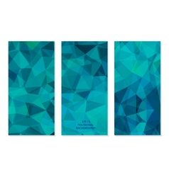 Set of Abstract Geometric Polygonal Backgrounds vector image