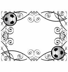 soccer frame vector image