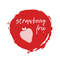 strawberry free label food intolerance symbols vector image