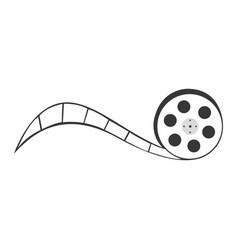 Tape reel film icon vector