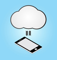 Technology digital cyber security smart phone vector