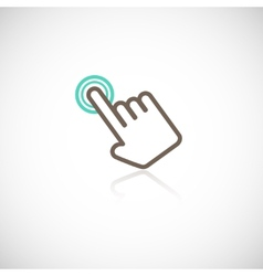 Touching hand icon vector image