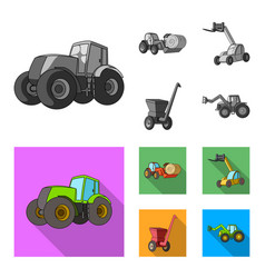 Tractor hay balancer and other agricultural vector