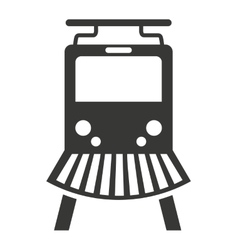 Train rail silhouette icon vector