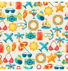 Travel and tourism seamless pattern vector