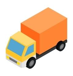 Truck isometric 3d icon vector