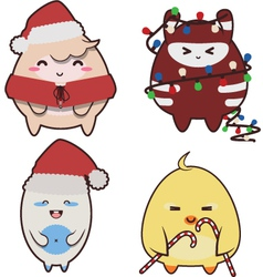 christmas monsters vector image
