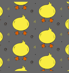 duck funny pattern cute animal back wallpaper vector image