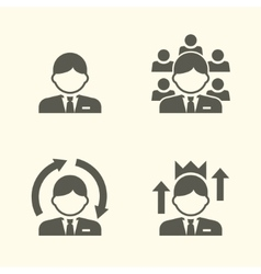 Office guy portrait icons vector image vector image